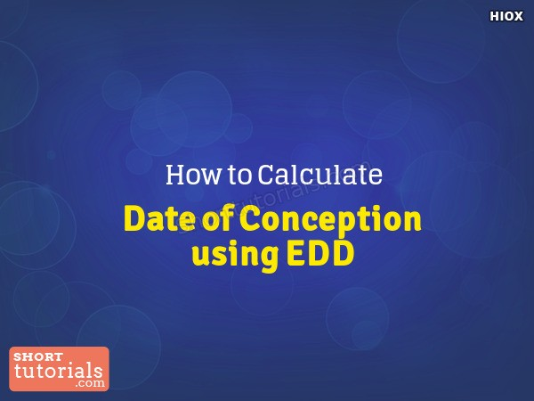 How To Calculate Conception Date From Edd