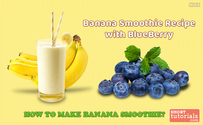 Banana Smoothie With Blueberry
