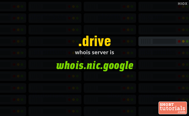 Whois Server for .drive