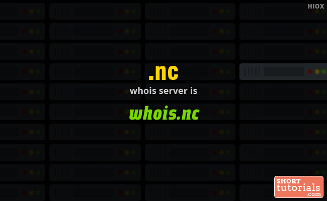 Whois Server for .nc