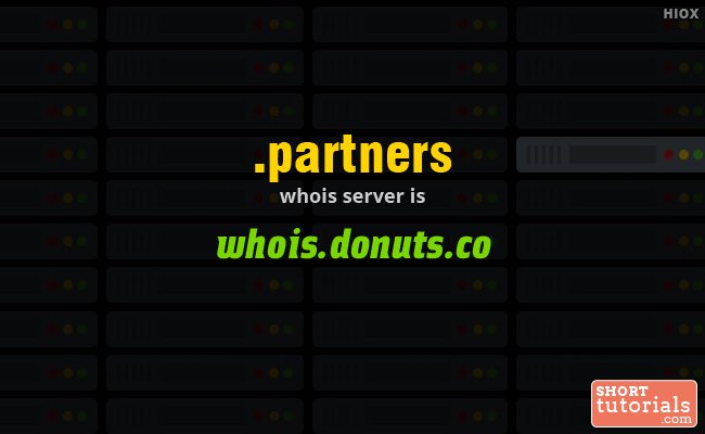 Whois Server for .partners